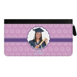 Graduation Genuine Leather Ladies Zippered Wallet (Personalized)