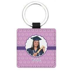 Graduation Genuine Leather Rectangular Keychain (Personalized)