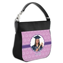 Graduation Hobo Purse w/ Genuine Leather Trim (Personalized)