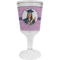 Graduation Wine Tumbler - 11 oz Plastic (Personalized)