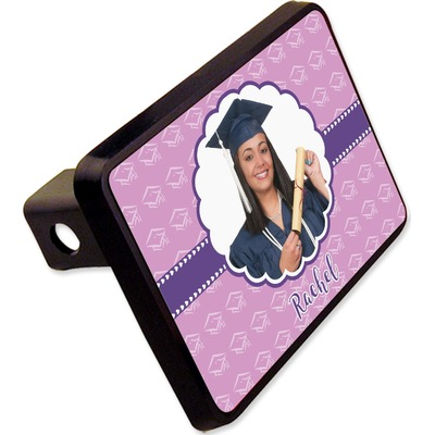 "Graduation Rectangular Trailer Hitch Cover - 2"" (Personalized)"