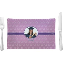 Graduation Glass Rectangular Lunch / Dinner Plate - Single or Set (Personalized)