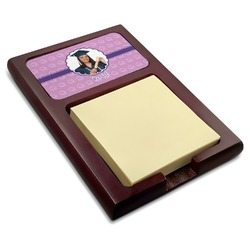 Graduation Red Mahogany Sticky Note Holder (Personalized)