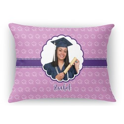 "Graduation Rectangular Throw Pillow Case - 12""x18"" (Personalized)"