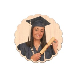 Graduation Genuine Maple or Cherry Wood Sticker (Personalized)