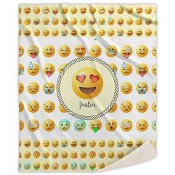 "Emojis Sherpa Throw Blanket - 60""x80"" (Personalized)"