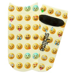 Emojis Adult Ankle Socks (Personalized)