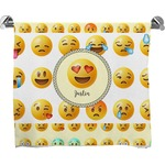 Emojis Full Print Bath Towel (Personalized)