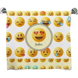 Emojis Full Print Bath Towel (Personalized)