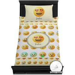 Emojis Duvet Cover Set - Twin (Personalized)