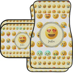Emojis Car Floor Mats Set - 2 Front & 2 Back (Personalized)