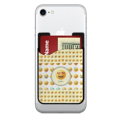 Emojis Cell Phone Credit Card Holder (Personalized)