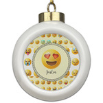 Emojis Ceramic Ball Ornament (Personalized)