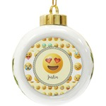 Emojis Ceramic Ball Ornament (Personalized)