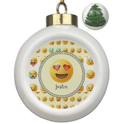 Emojis Ceramic Ball Ornament - Christmas Tree (Personalized)