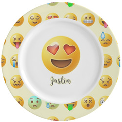Emojis Ceramic Dinner Plates (Set of 4) (Personalized)