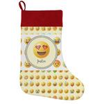 Emojis Holiday Stocking w/ Name or Text