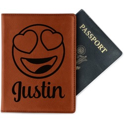 Emojis Leatherette Passport Holder (Personalized)
