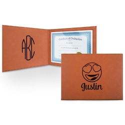 Emojis Leatherette Certificate Holder (Personalized)