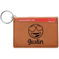 Emojis Leatherette Keychain ID Holder (Personalized)