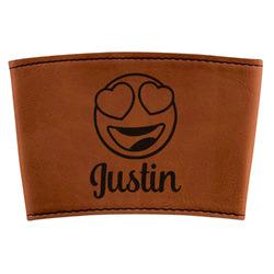 Emojis Leatherette Mug Sleeve (Personalized)
