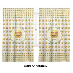 "Emojis Curtains - 20""x63"" Panels - Unlined (2 Panels Per Set) (Personalized)"