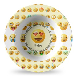 Emojis Plastic Bowl - Microwave Safe - Composite Polymer (Personalized)