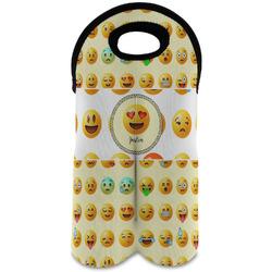 Emojis Wine Tote Bag (2 Bottles) (Personalized)