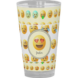 Emojis Drinking / Pint Glass (Personalized)