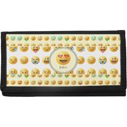 Emojis Canvas Checkbook Cover (Personalized)