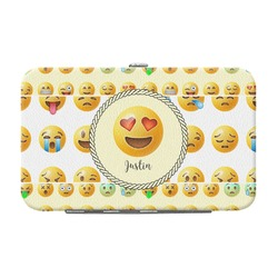 Emojis Genuine Leather Small Framed Wallet (Personalized)