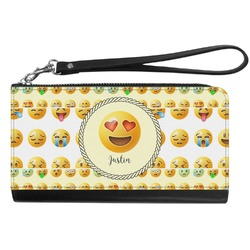 Emojis Genuine Leather Smartphone Wrist Wallet (Personalized)