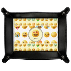 Emojis Genuine Leather Valet Tray (Personalized)