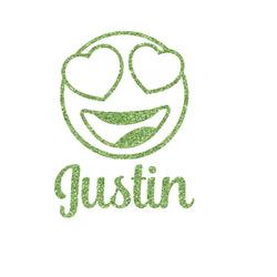 Emojis Glitter Iron On Transfer- Custom Sized (Personalized)