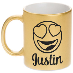 Emojis Gold Mug (Personalized)