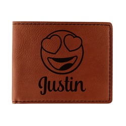 Emojis Leatherette Bifold Wallet (Personalized)
