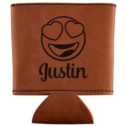 Emojis Leatherette Can Sleeve (Personalized)