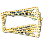 Emojis License Plate Frame (Personalized)