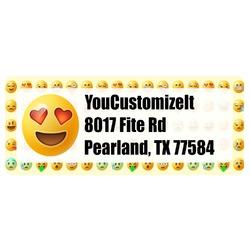 Emojis Return Address Labels (Personalized)