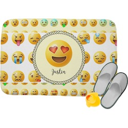 Emojis Memory Foam Bath Mat (Personalized)