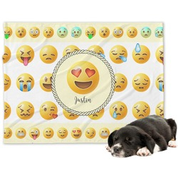 Emojis Minky Dog Blanket (Personalized)