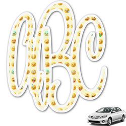 Emojis Monogram Car Decal (Personalized)