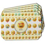 Emojis Dining Table Mat - Octagon w/ Name or Text