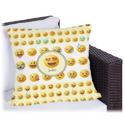 """Emojis Outdoor Pillow - 16"""" (Personalized)"""