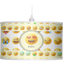 Emojis Drum Pendant Lamp (Personalized)