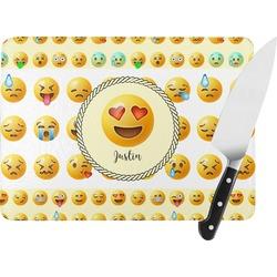 Emojis Rectangular Glass Cutting Board (Personalized)