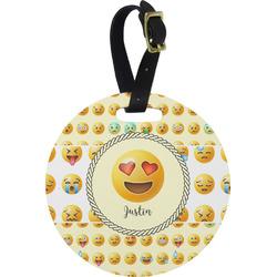Emojis Round Luggage Tag (Personalized)