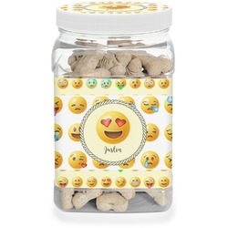 Emojis Pet Treat Jar (Personalized)