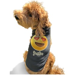 Emojis Black Pet Shirt - XL (Personalized)