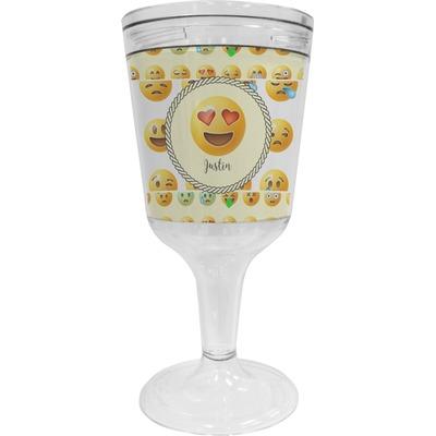 Emojis Wine Tumbler - 11 oz Plastic (Personalized)